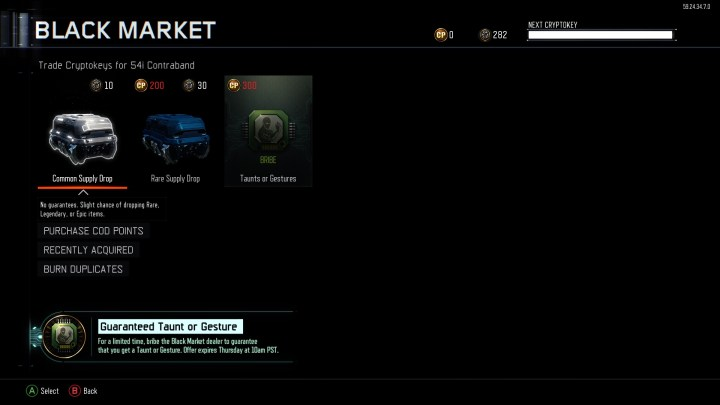 What you need to know about the Black Market bribe in the new April Black Ops 3 hotfix.