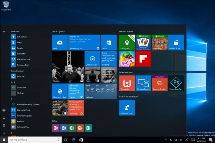 The New Start Menu and Start Screen