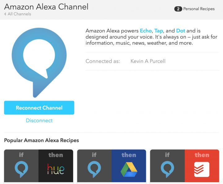 Connect Alexa to IFTTT and use a large collection of cool IFTTT tasks.