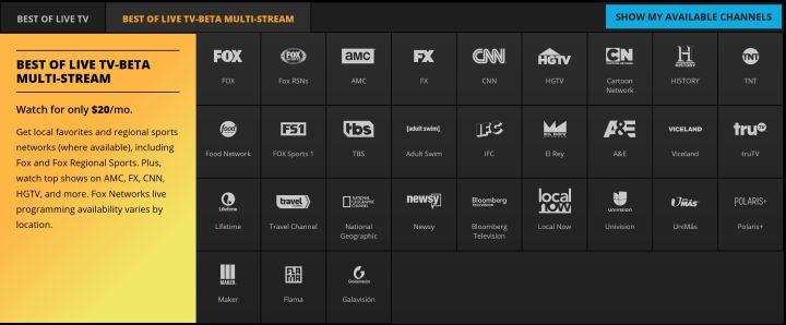 best of live tv beta