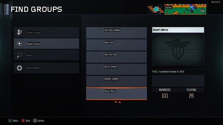 This hotfix update adds in Black Ops 3 Groups.