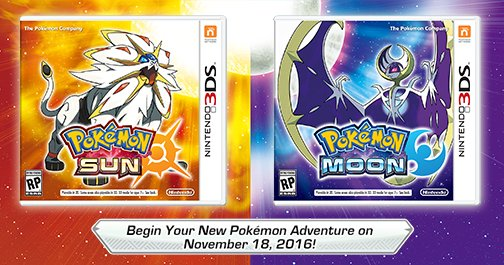 pokemon sun and moon release date