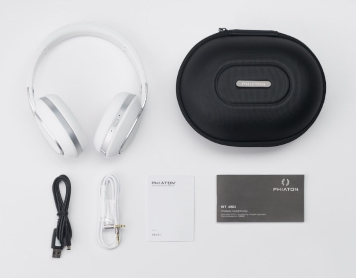 phiaton bt 460 headphones case and accessories
