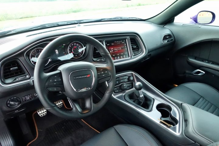 Everything from the 8.4-inch uConnect console to the center stack angle towards the driver, creating a driver-centric cockpit.
