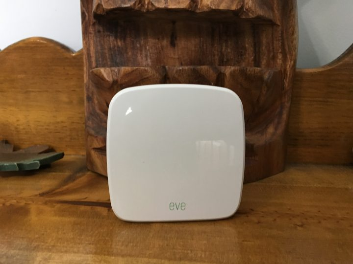 This is the Elgato Eve Room is a small sensor to track air quality and more in your home.