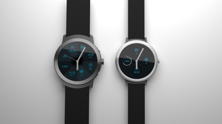 Mock-up of rumored Google Watches