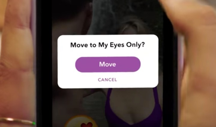 Keep photos and videos out of Memories with My Eyes Only.