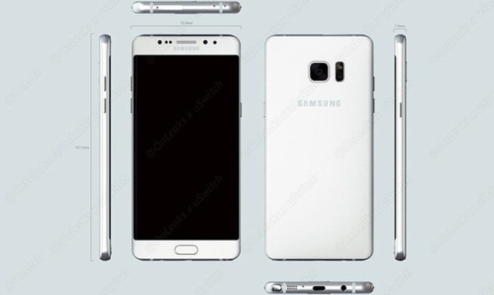 Note 7 Leaked Design