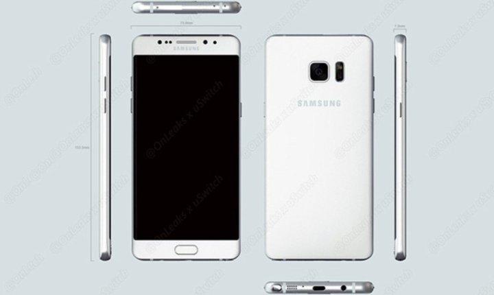 Note 7 vs Galaxy S7: Design