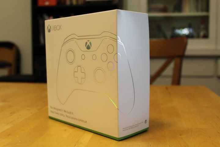 The display box for Xbox Design Lab controllers.