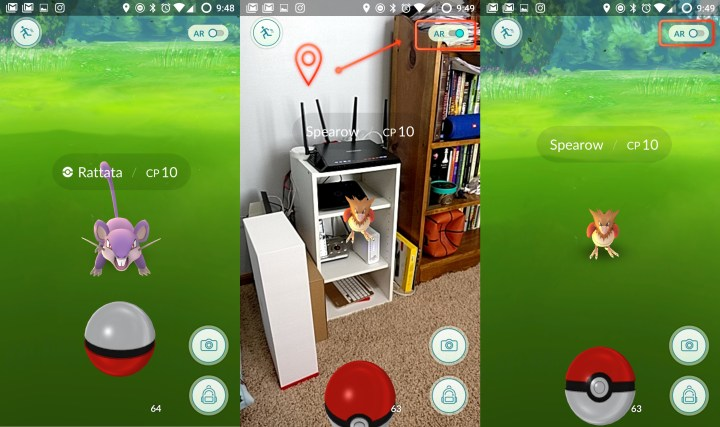 How to turn off Pokémon Go Augmented Reality.