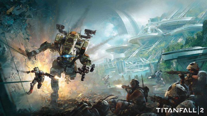 Pilot and Titan running along a wall.