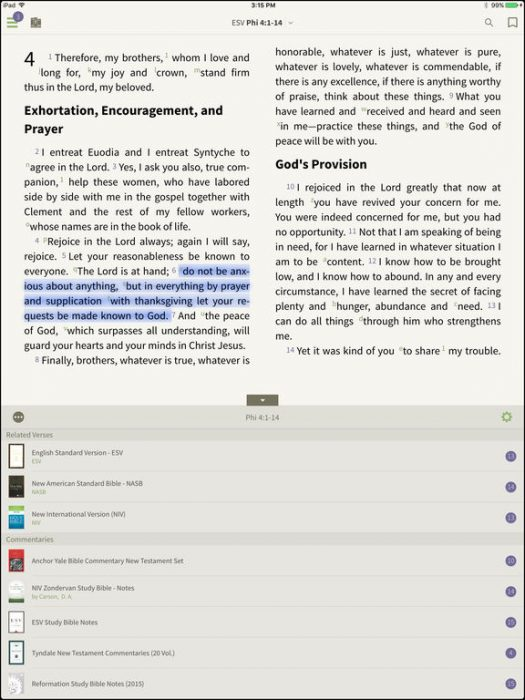 olive tree bible study for ipad