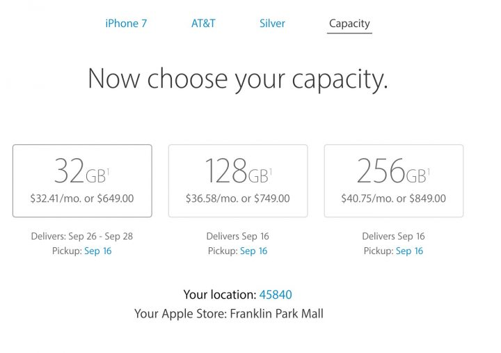 Reserve the iPhone 7 for in store pickup with a special iPhone 7 pre-order.