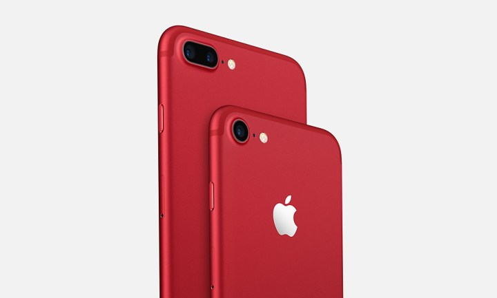 The new Red iPhone 7 color choice stands out.
