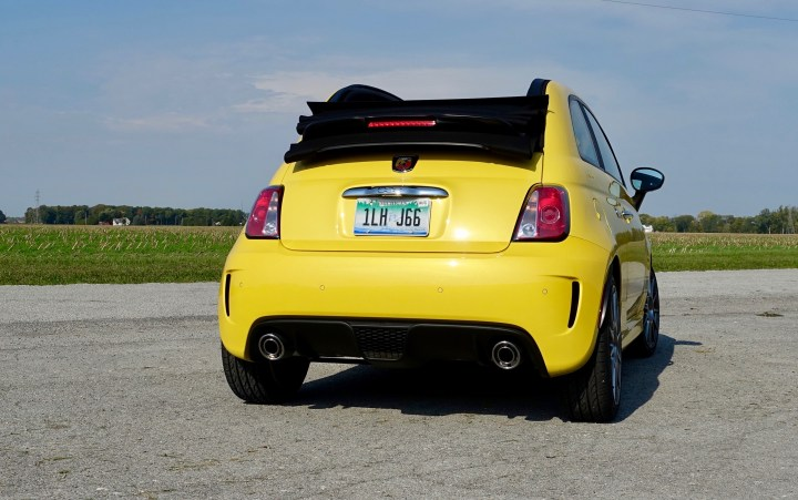 The Fiat 500 Abarth demands attention with a ear-grabbing exhaust note especially when shifting.