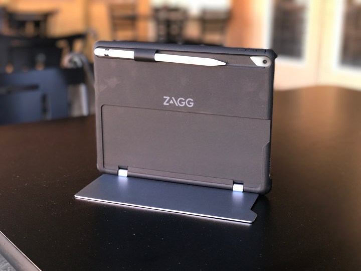 When you don't need the keyboard you still have a great iPad Pro case with a kickstand and an Apple Pencil holder.