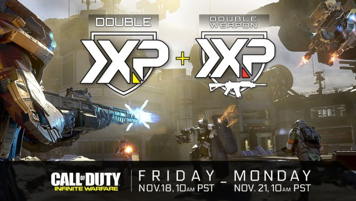 What you need to know about the Call of Duty Infinite Warfare Double XP weekend.