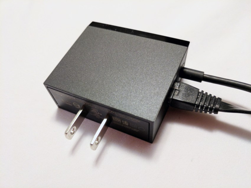 google chromecast ultra power adapter and network port