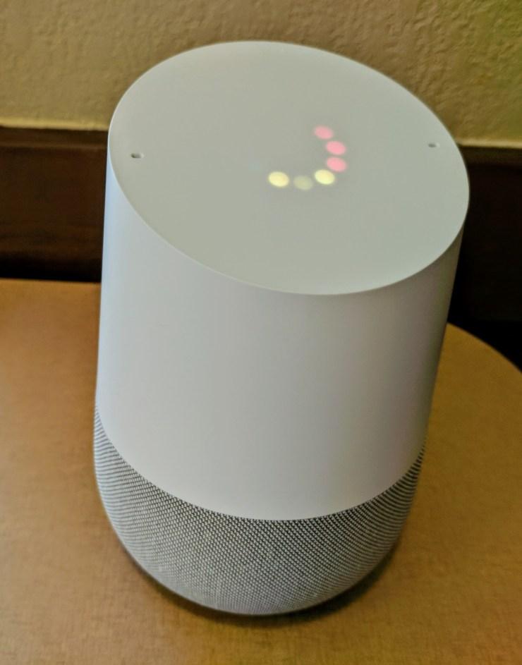 google home volume indicators