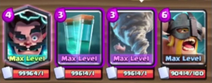 Electro Wizard Legendary, Clone Spell, Tornado and Elite Barbarians
