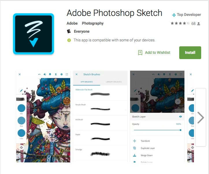 adobe mobile android apps sketch