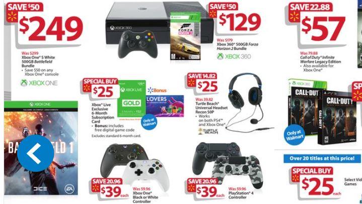 Xbox one черная пятница