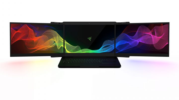Razer Project Valerie is a triple monitor gaming notebook with three 17.3-inch 4K displays.