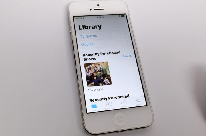 TV App Main Library Page