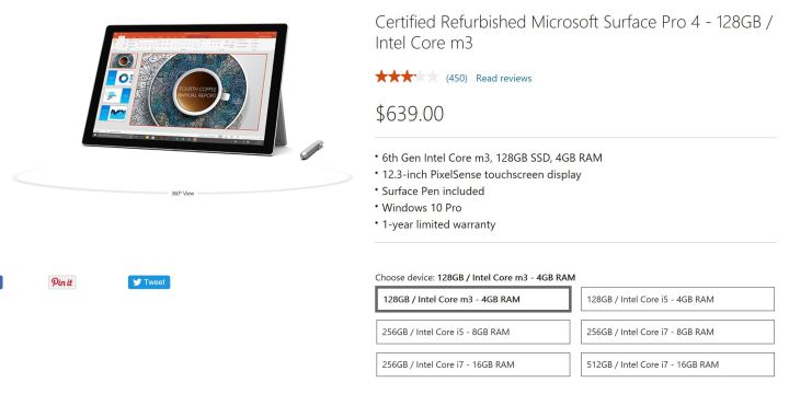 Cheaper Surface Pro 4s Have Arrived, Sort Of