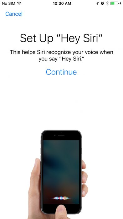 Hey Siri in iOS 1012