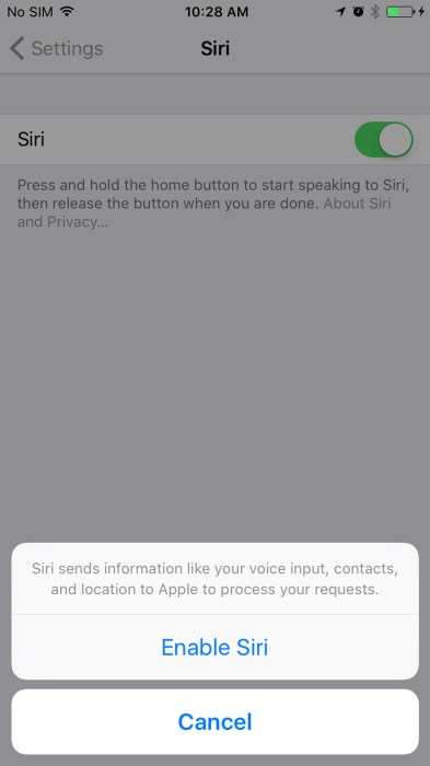 Hey Siri in iOS 108