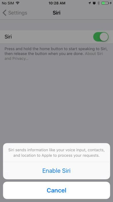 Hey Siri in iOS 108