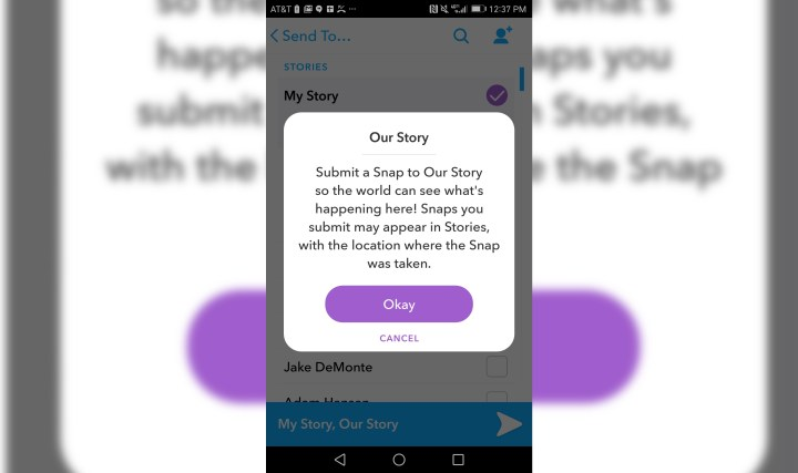 Take part in global Snapchat Stories without leaving your home.