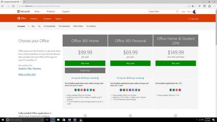 setup office 365