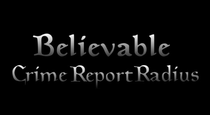 Believable Crime Report Radius