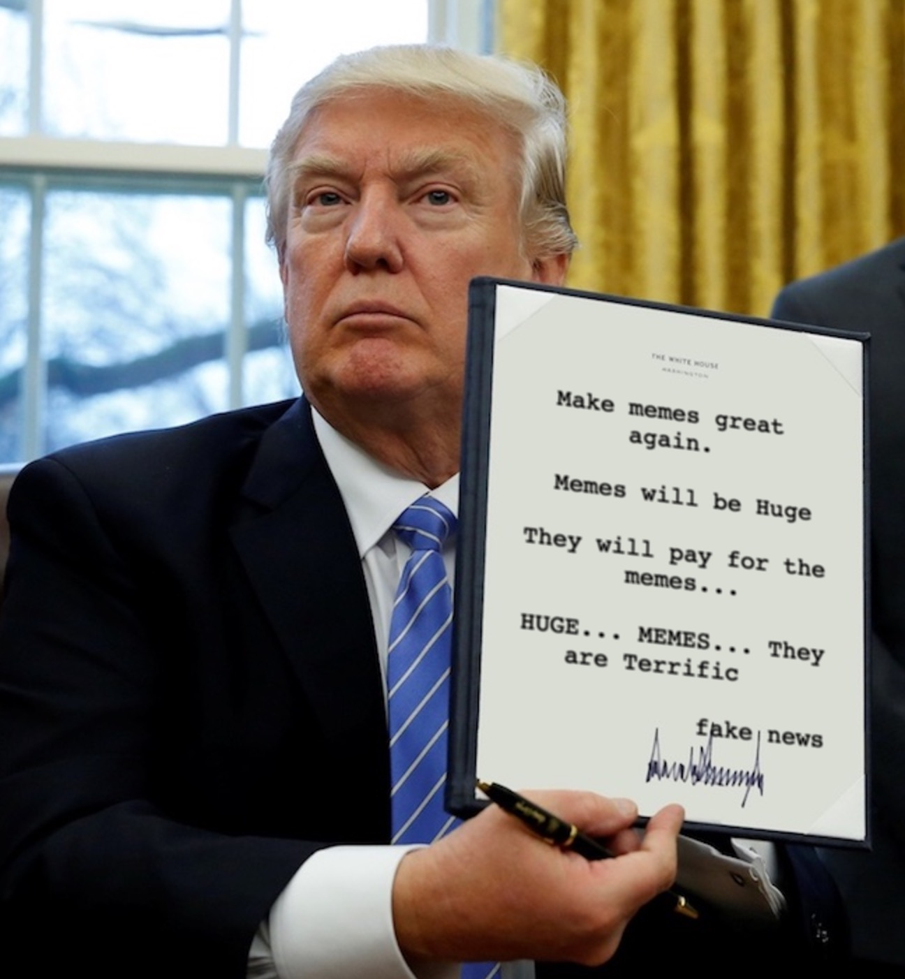 How To Make Your Own Donald Trump Executive Order Meme
