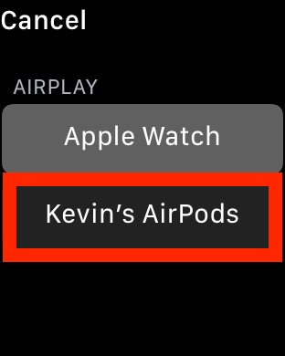 apple watch airplay airpods