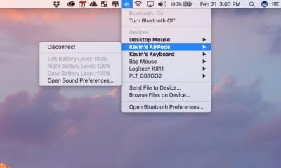 bluetooth menu battery life