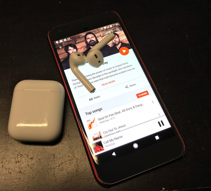 how to connect airpods with android