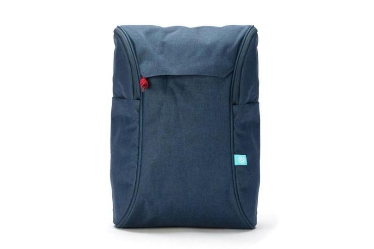 book daypack navy-red backpack