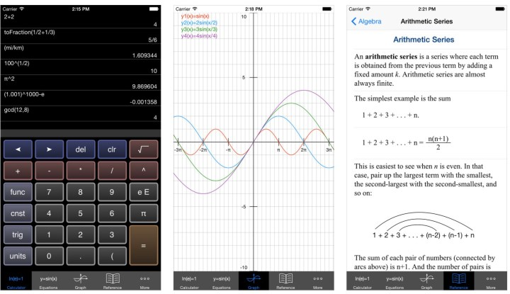 Free graphing calculator math app