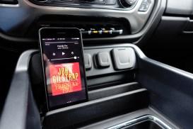 2017 Chevy Silverado 2500HD Duramax Diesel Review - iPad Phone Holder