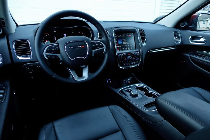The 2017 Dodge Durango interior.