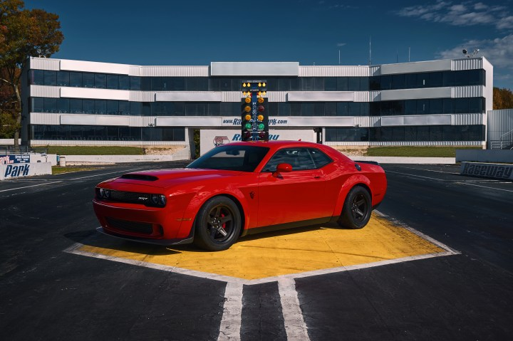 This is the 2018 Dodge Challenger SRT Demon.
