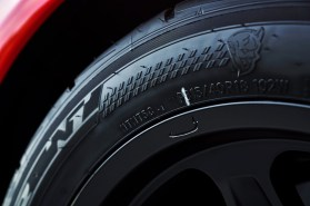 The 2018 Dodge Challenger SRT Demon's exclusive 315/40R18 Nitto NT05R street-legal drag radial tires.
