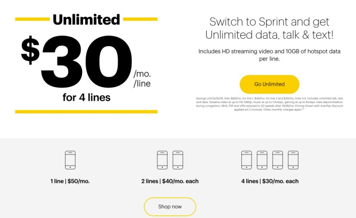 While there is really only one Sprint plan, there are a wide range of Sprint prices.