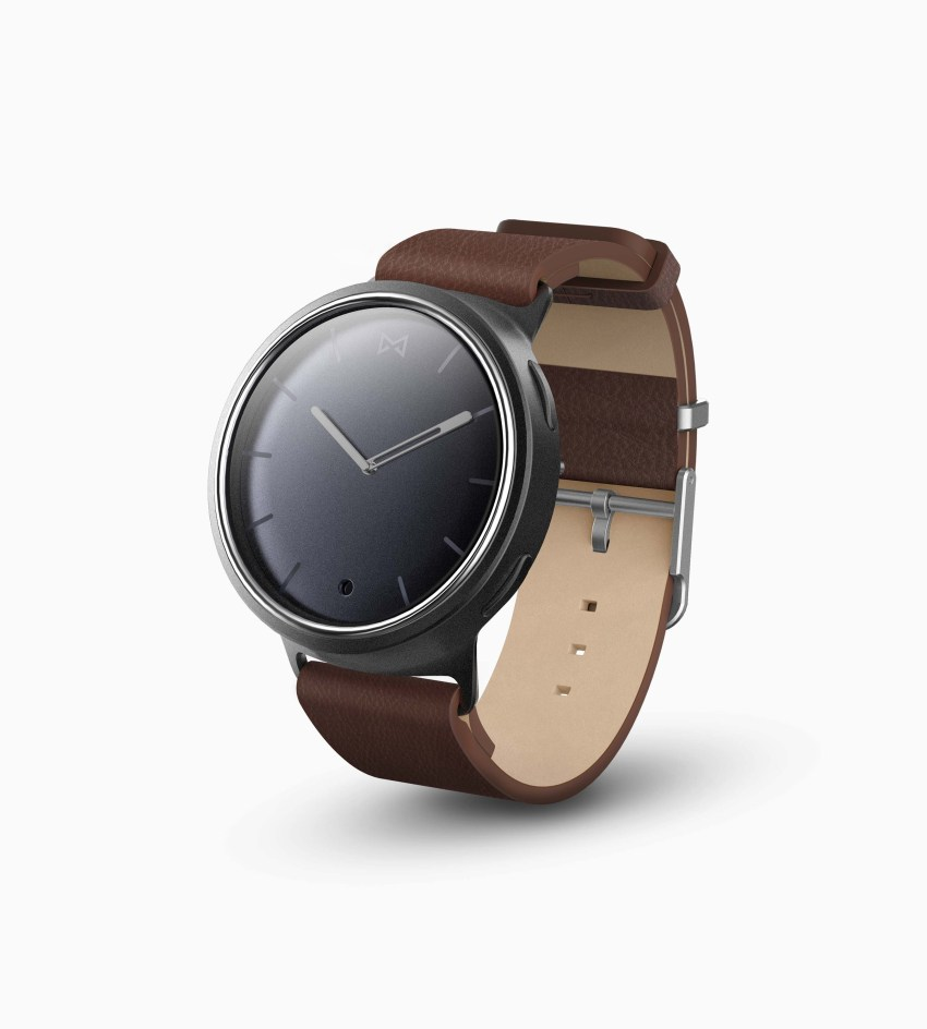misfit phase black brown leather