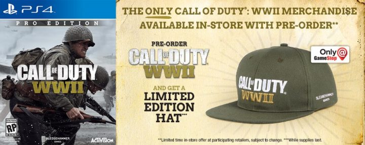 The Call of Duty: WWII Pro Edition includes collectibles.