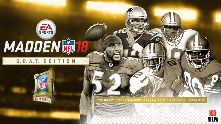Pick a G.O.A.T. player with the special edition of Madden 18.